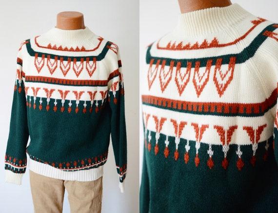 1970s Acrylic Ski Sweater - M/L