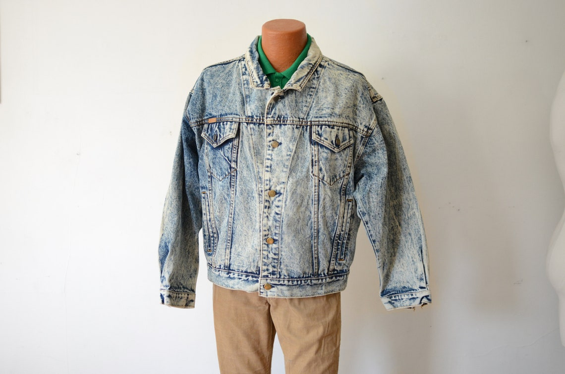 1980s Acid Wash Denim Jacket