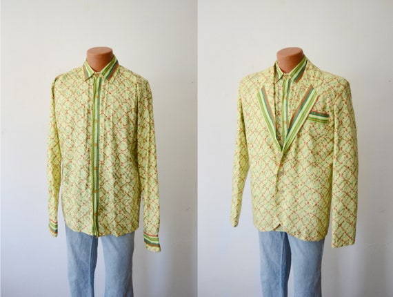 Vintage Shirt and Matching Blazer Set