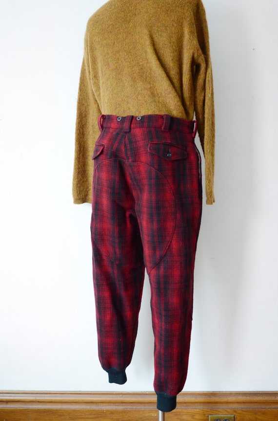 80s Woolrich Plaid Hunting Pants - image 9