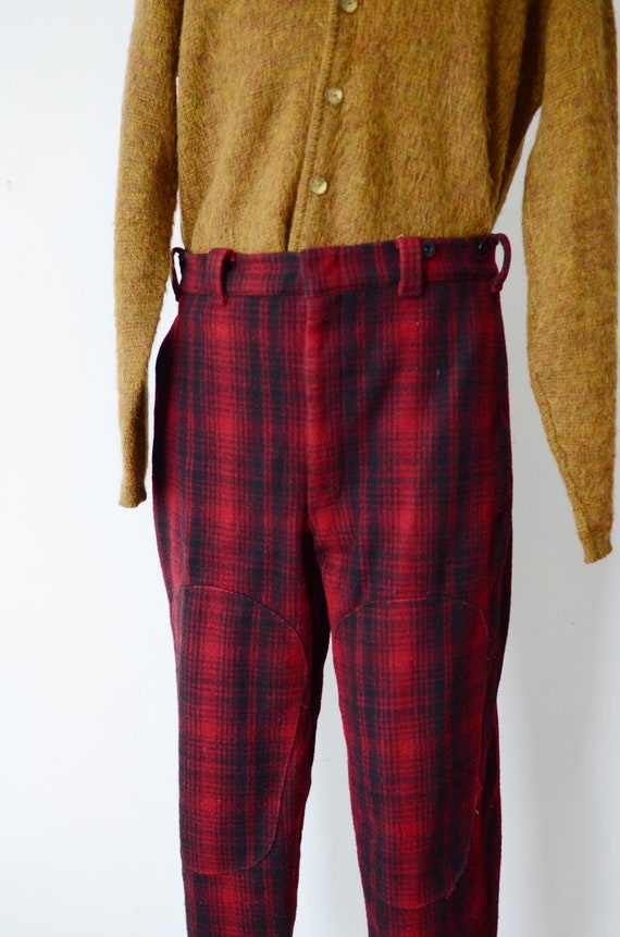 80s Woolrich Plaid Hunting Pants - image 3