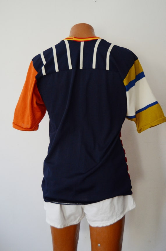1980s Rugby Shirt - M - image 8