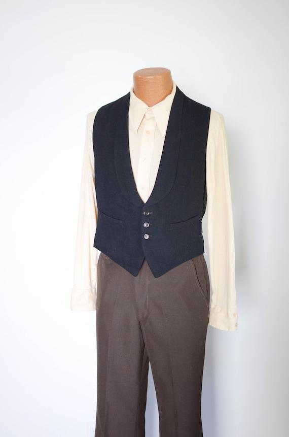20s/30s Black Vest - M