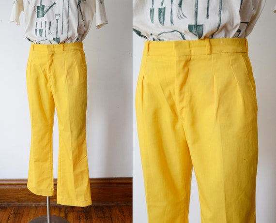 1970s Bright Yellow Slacks
