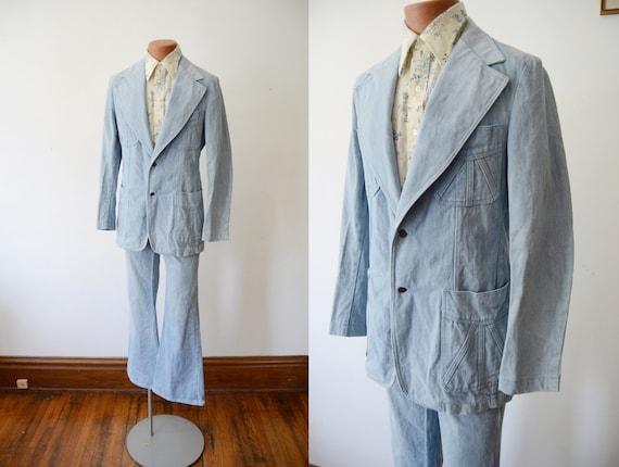 1970s Denim Suit - S