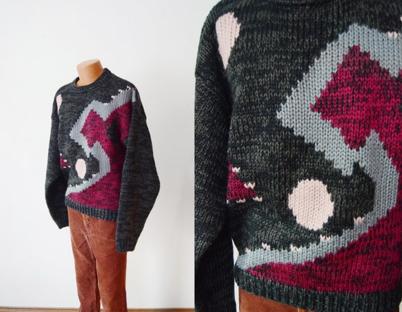 1980s Geometric Sweater