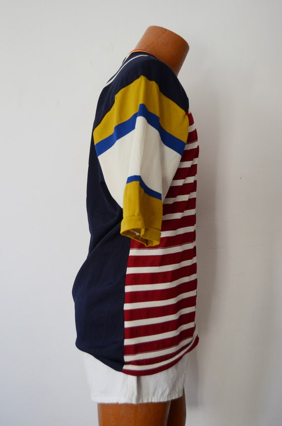 1980s Rugby Shirt - M - image 7