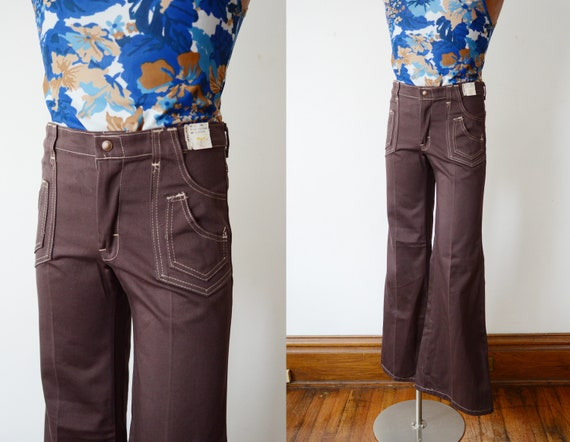 1970s High Waisted Flare Pants - XS SLIM