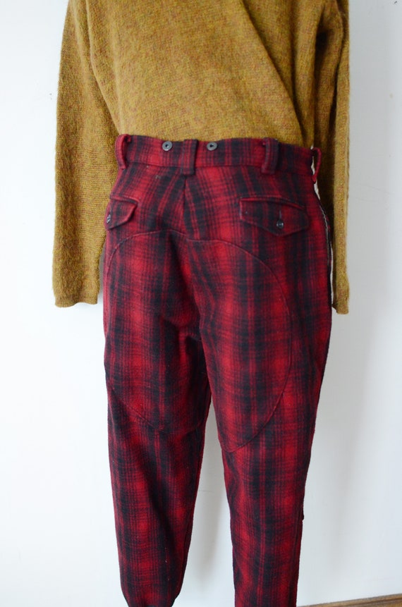 80s Woolrich Plaid Hunting Pants - image 8