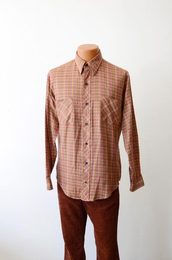 1970s Dee Cee Plaid Long Sleeve Shirt