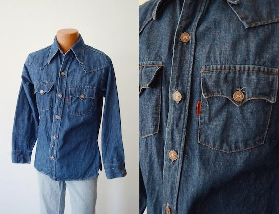 70s Vintage Levis Denim Shirt