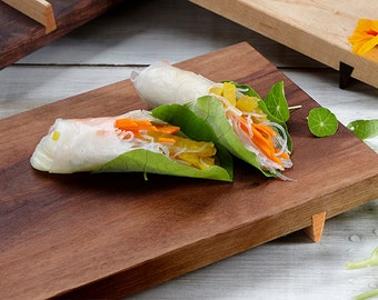 Sushi Board, Cheese Board, Cutting Board, Walnut Wood, Serving Tray, Wedding Gift