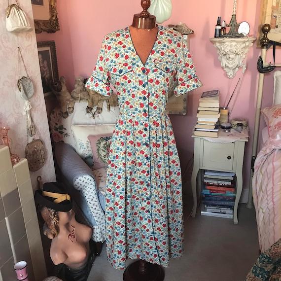 1970s Marion Donaldson Liberty Print floral dress