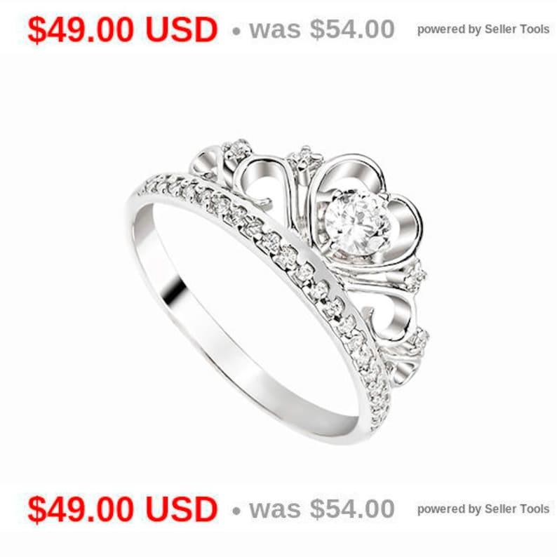 9715f2ec2 Tiara Ring Princess Crown Ring Princess Tiara Ring Princess   Etsy