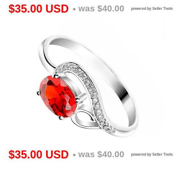 ruby engagement ring garnet promise ring for her garnet etsy. Black Bedroom Furniture Sets. Home Design Ideas