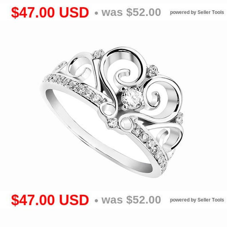 641ef093b Princess Crown Ring Tiara Ring Princess Tiara Ring Crown   Etsy