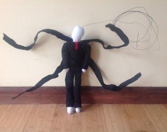 Posable Slenderman Creepypasta Halloween Teddy Rag Doll Toy Decoration Horror Monster