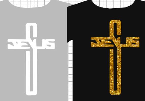 Jésus en paillettes ou vinyle de transfert de chaleur, repasser, bricolage chemise ou t-shirt,