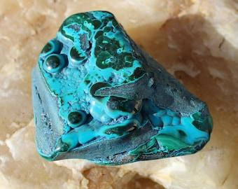Rich Blue Chrysocolla and Malachite Malacolla Specimen ~ Charged
