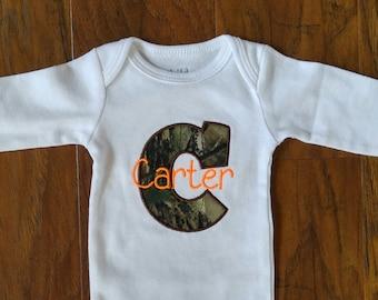 Personalized onesie - camo onesie - baby shower gift - baby gift - onesie - boy onesie - baby boy bodysuit - cute boy onesie