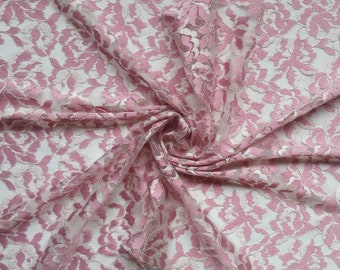 Pink Stretch Lace Fabric Wedding Double Stretch Lace Fabric Dress Making Lace fabric width 1.64 yd / 1.50 m Fabric per meter # F117