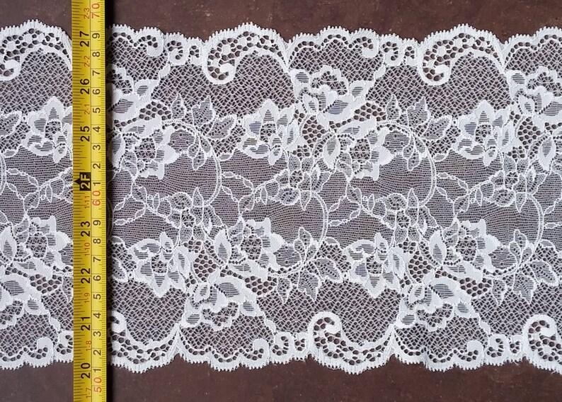 "5m Ivory cream strech lace FABRIC 60/"" WIDE"
