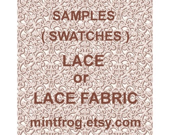Lace swatches, Lace samples, Buy Lace samples, swatches, Lace fabriic samples, Lace fabric swatches