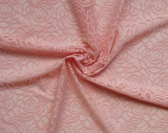 Pink Stretch Lace Fabric Wedding Double Stretch Lace Fabric Dress Making width 1.31 yd Lace fabric width 1.20 m Fabric per meter # F103