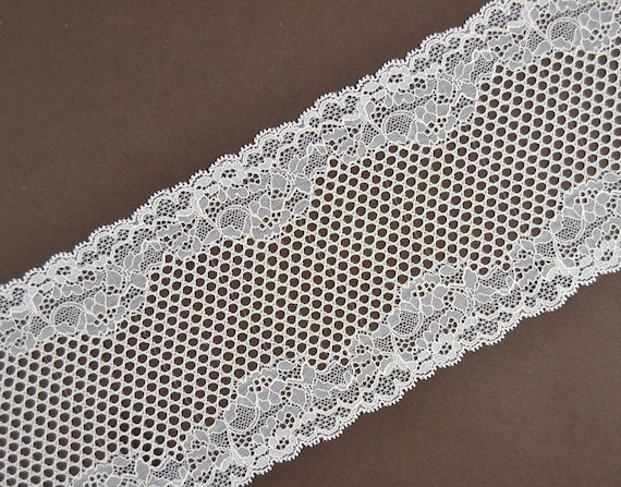 lace 10 yard one inch wide white happy birthday nylon sewing scalloped new
