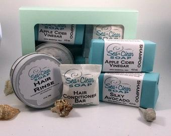 Shampoo Bar Gift Box, Hair Conditioner, Hair Rinse, Gift Set, Organic Pack, Natural Hair Care