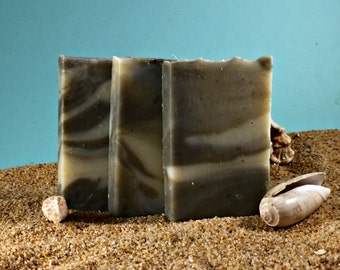 Sea Clay Soap / Tea Tree Essential Oil Face Soap, All Natural Soap, Soap for acne and oily skin, Mango Soap, Guest Soap