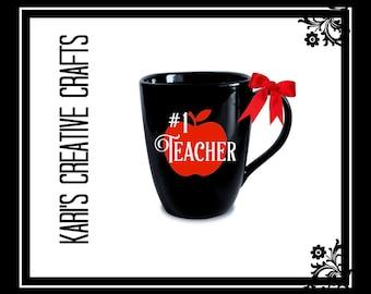 Teacher Coffee Mug, Teacher Gift, Teaching Mug, Best Teacher Ever Mug, #1 Teacher Mug, Teaching