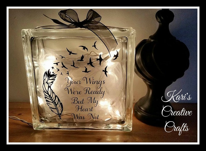 Your wings were ready Photo Frame handmade Personalized Gift Loved One Memory