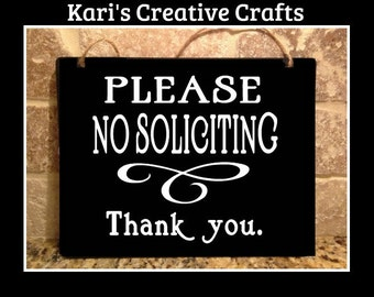 No solicitation sign, No soliciting sign, Stop unwanted people from knocking at your door, No sales, No salesmen, Unwanted guests