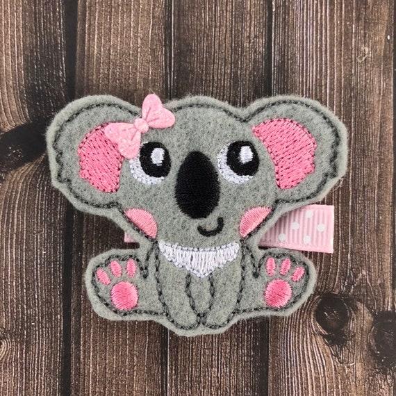 hair bows ribbon girl accessories clip australia koala brown
