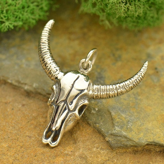 Sterling Silver Cow Charm approximately 15 x 16 mm