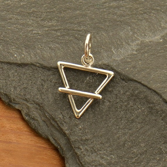 Sterling Silver Element Charm Earth Element Symbol Charm Etsy