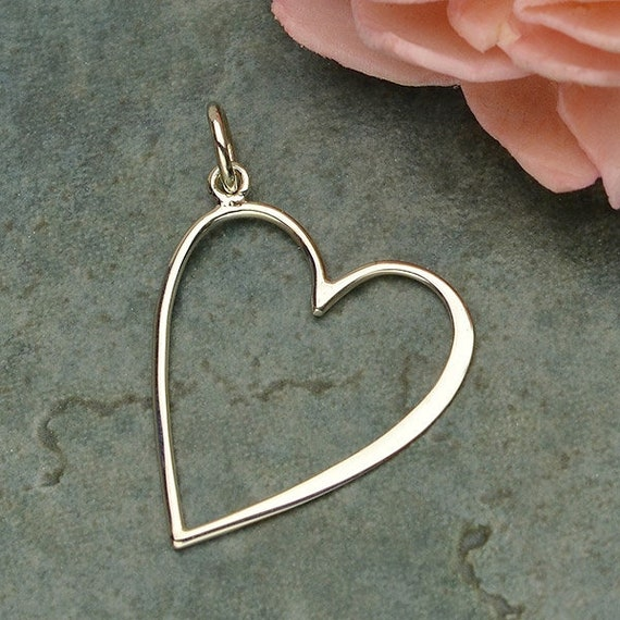 Sterling Silver Small Cutout Heart