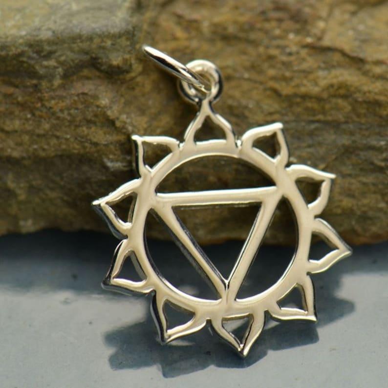 Silver Chakra Chakra Charm Solar Plexus Chakra Yoga Jewelry Chakra Jewelry Yoga Charm Mystical Charm Chakra Pendant Spiritual Charm
