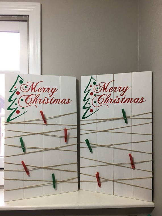 Christmas card display christmas card holder holiday etsy image 0 m4hsunfo