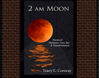 Poetry Book, 2 a.m. Moon, Poems of Darkness, Love, Sex & Transformation Paperback, signed upon request. Tracy L. Conway New Orleans Two AM