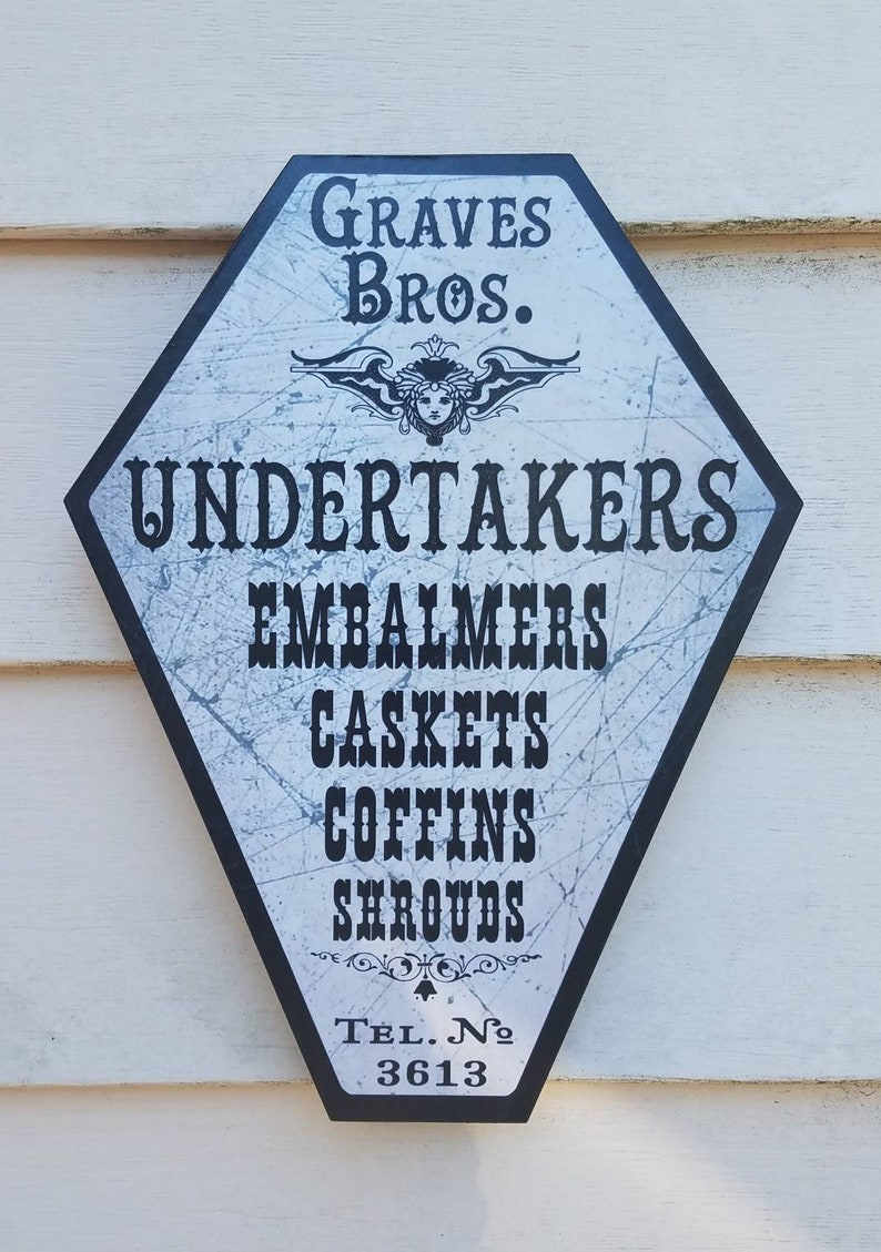 GRAVES BROTHERS Coffin Shaped Victorian Funeral Home image 0