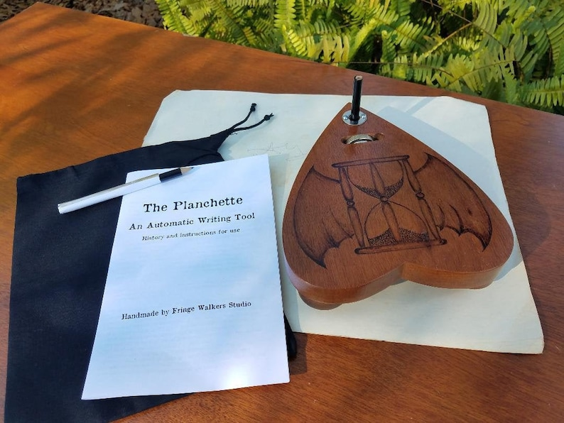 Automatic Writing Planchette Talking Board Wood Pencil image 0