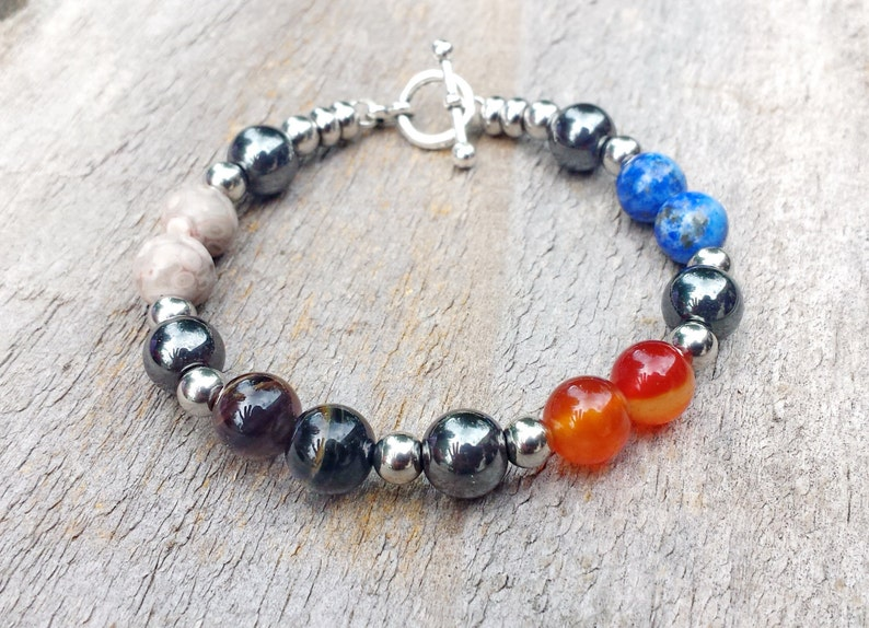 Four Elements  Directions Bead Bracelet Healing Crystals image 0