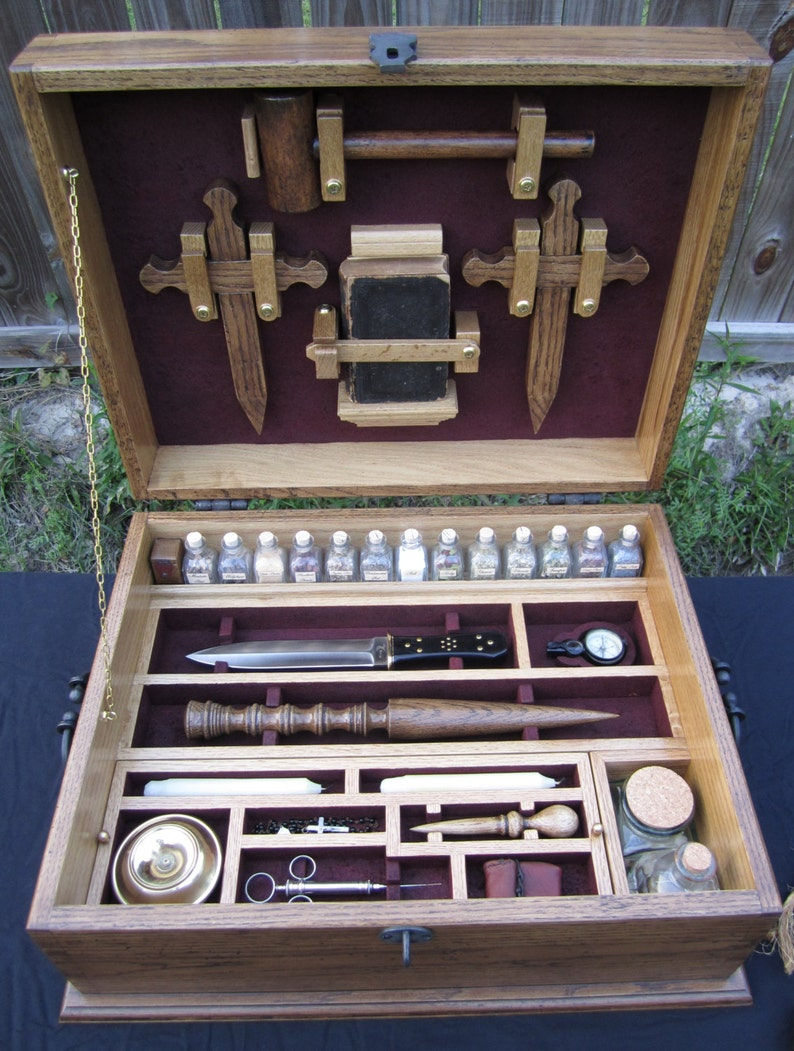 Vampire Hunting Kit Antique Reproduction Slayer Chest Secret image 0
