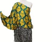 Sana Safinaz Draped One-Shoulder Silk Jumpsuit, Medium
