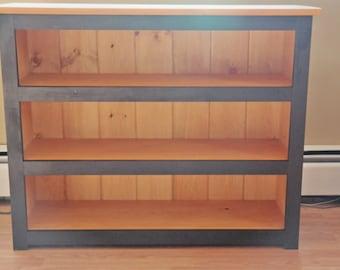 pine bookcase beadboard furniture rustic furniture stained furniture book storage - Pine Bookshelves