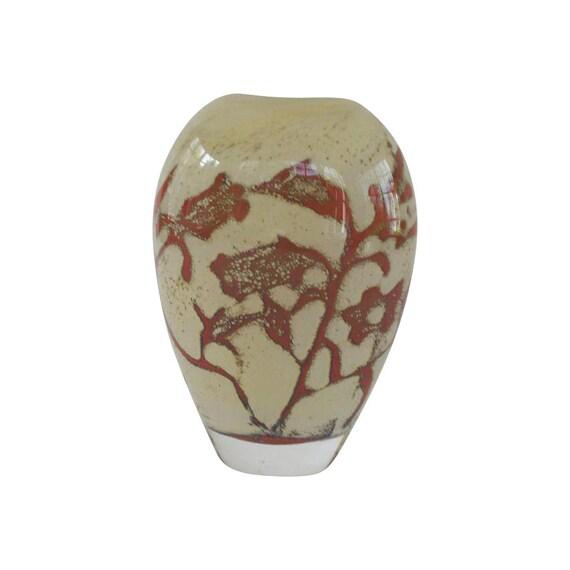 Kosta Boda Vaas.Kosta Boda Olle Brozen Floating Flowers Vase