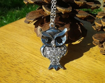 Sparkling Owl Pendant