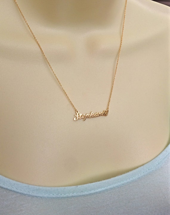 scarpe sportive a8343 df363 Collana in oro rosa con nome, nome collana dell'argento sterlina, Oro  Vermeil, piccoli nome collana Rose Oro Vermeil, su misura